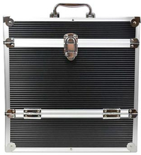 Vinylväska / Flightcase Aluminium/Svart