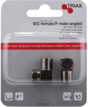 TRIAX IEC Hona Till F-Hane Vinklad 2pack