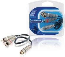Bandridge Subwoofer Audiokabel 2x RCA Hane - RCA Hona 0.20 m Blå