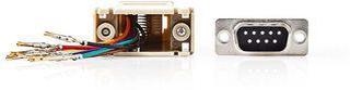 Nedis Serial adapter | Adapter | D-SUB 9-Pin Hona | RJ45 (8P8C) Hona | Nickel | Elfenben | Plastpåse