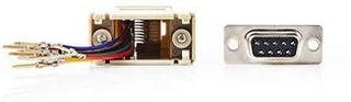Nedis Serial adapter | Adapter | D-SUB 9-Pin Hane | RJ45 (8P8C) Hona | Nickel | Elfenben | Plastpåse
