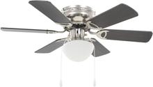 vidaXL Dekorativ takfläkt med lampa 82 cm mörkbrun