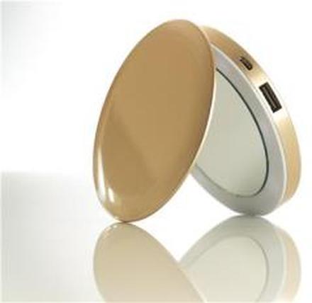 Hyper - Hyperdrive Pearl Compact Mirror USB Battery 3000mAh (Gold)