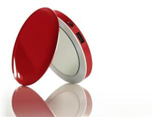 Hyper - Hyperdrive Pearl Compact Mirror USB Battery 3000mAh (Red)