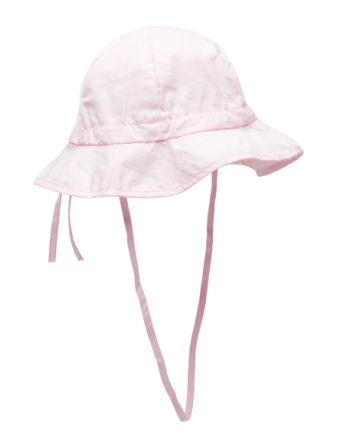 Hat W/Brim & Bow - Solid Col