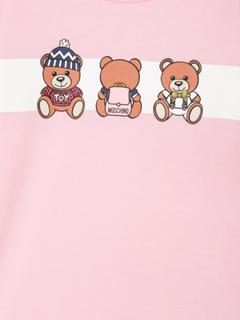 Moschino Kids Teddy Bear print sweatshirt dress - Pink & Purple