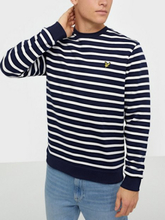 Lyle & Scott Breton Stripe Sweatshirt Puserot navy/white
