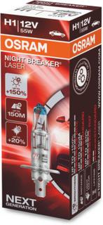 Halogenlampa OSRAM NIGHT BREAKER LASER 12V H1 55W