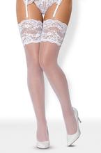 Obsessive 810-STO-2 Stockings White S/M Stay-ups