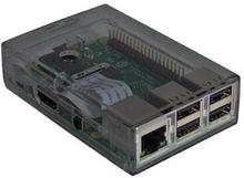 Chassi/Kabinett Raspberry Pi 3 rökfärgat 2-delat