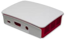 Official Raspberry Pi 3 Case White/Raspberry with Removable Lid & Sides