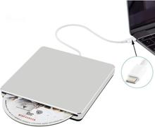 INF Ekstern CD- og DVD-spiller optisk stasjon - Sølv