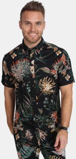 Only & Sons Taylin SS Floral Print Skjorte Black