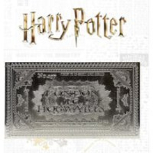 Harry Potter Silver Plated Limited Edition Hogwarts Ticket Limited Edition Replica