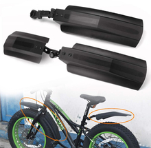 2pcs Snow Bicycle mudguard 20 inch 26inch Fat bike Fender Front Rear Mud Guard for Bikes Cycling Bicycle Fenders