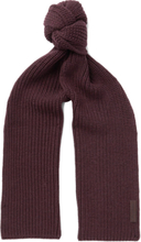 Ribbed Wool Scarf - Burgundy