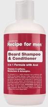 Recipe for men Beard Shampoo & Conditioner Grå