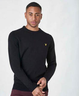 Lyle & Scott Lambs Wool Blend Jumper Svart