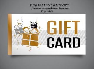 Presentkort - Välj valfri valör (300 kr)