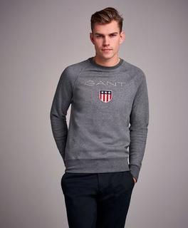 Gant Sweatshirt Gant Shield C-Neck Sweat Grå