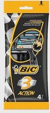 Bic Bic3 Action 4-pack Svart