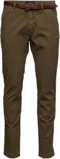 Slim Fit Cotton/Elastan Garment Dyed Chino Pant Chinos Byxor Brun SCOTCH & SODA