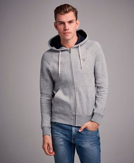 Gant Gant Original Full Zip Sweat Hoodie Grå