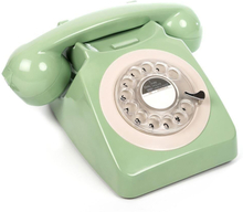 GPO 746 Modern Telefon med Snurrskiva - Grön