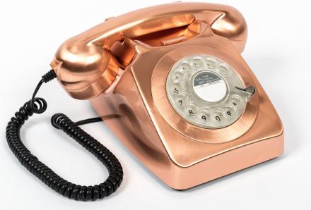 GPO 746 Modern Telefon med Snurrskiva - Brons