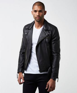 William Baxter Stevie Leather Jacket Svart