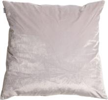 Sammet kuddfodral 60x60 cm - Ljusgrå