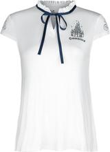 Cinderella - Schloss -T-skjorte - hvit
