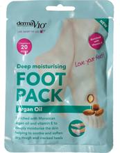 DermaV10 Intensiivisesti kosteuttava Foot Pack Argaaniöljy 1 pari