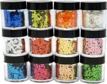 Negldekor glitter 12 bokser i eske