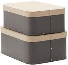 Pappbox Love 2-set grå