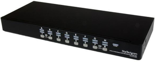 1U hyllmonterbart USB KVM-switch-paket med 16 portar, OSD och kablar