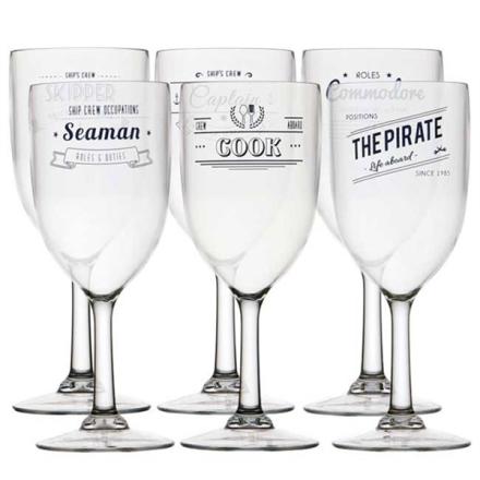 CREW polycarbonat glas vin 340 ml - 6 stk.