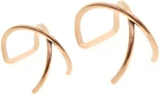 2-pack Fake Helix Piercing Öron Örhänge Ear Cuff utan Hål Roseguld