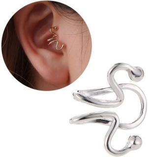 Fake Helix Tragus Piercing Öron Örhänge Ear Cuff utan Hål Silver