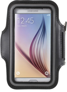 Samsung Galaxy S6 og S6 Edge Sports Armbånd - Sort