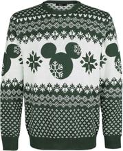 Mickey Mouse - Mikke -Julegensere - grønn, hvit
