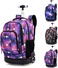 Children Trolley School Backpacks Girls Boys 18 inch Wheeled Backpack Kids On Wheels Bags For Teenagers School Rolling Bags Boys