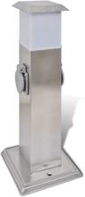 vidaXL Kontaktsokkel med lampe til haven i rustfrit stål