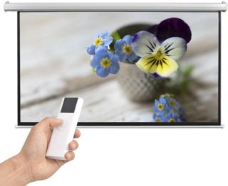 vidaXL elektrisk projektorlærred med fjernbetjening 200 x 113 cm 16:9