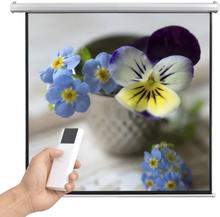vidaXL elektrisk projektorlærred med fjernbetjening 160 x 160 cm 1:1
