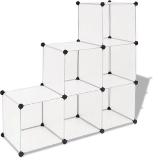 vidaXL opbevaringsskab kubeformet 6 rum hvid