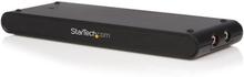 Universell USB-dockningsstation för bärbara datorer med VGA audio-Ethernet