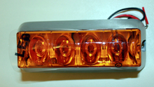 Blixtljus Orange LED med orange lins