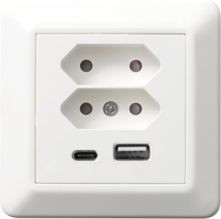 2 USB uttag & 2 EUR uttag - Elko RS