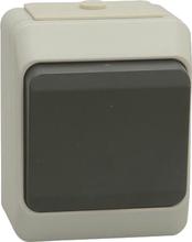 NORDIC strömbrytare 1-pol/trapp, grå